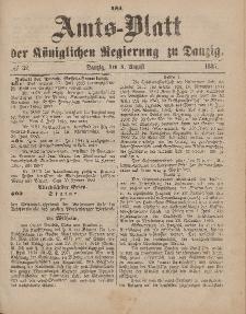 Amts-Blatt der Königlichen Regierung zu Danzig, 8. August 1885, Nr. 32