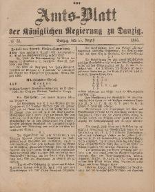 Amts-Blatt der Königlichen Regierung zu Danzig, 15. August 1885, Nr. 33