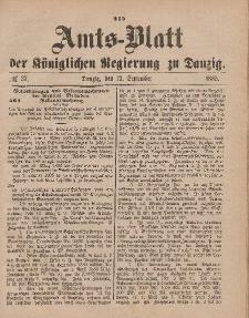 Amts-Blatt der Königlichen Regierung zu Danzig, 12. September 1885, Nr. 37