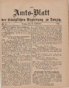 Amts-Blatt der Königlichen Regierung zu Danzig, 19. September 1885, Nr. 38