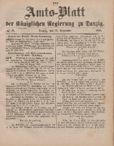 Amts-Blatt der Königlichen Regierung zu Danzig, 26. September 1885, Nr. 39