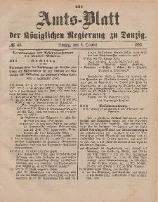 Amts-Blatt der Königlichen Regierung zu Danzig, 3. Oktober 1885, Nr. 40