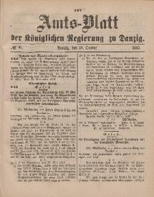 Amts-Blatt der Königlichen Regierung zu Danzig, 10. Oktober 1885, Nr. 41