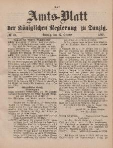 Amts-Blatt der Königlichen Regierung zu Danzig, 17. Oktober 1885, Nr. 42