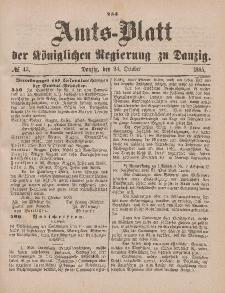 Amts-Blatt der Königlichen Regierung zu Danzig, 24. Oktober 1885, Nr. 43