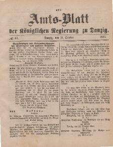 Amts-Blatt der Königlichen Regierung zu Danzig, 31. Oktober 1885, Nr. 44