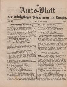 Amts-Blatt der Königlichen Regierung zu Danzig, 7. November 1885, Nr. 45