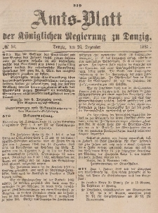 Amts-Blatt der Königlichen Regierung zu Danzig, 26. Dezember 1885, Nr. 52