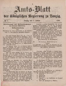 Amts-Blatt der Königlichen Regierung zu Danzig, 3. Januar 1880, Nr. 1