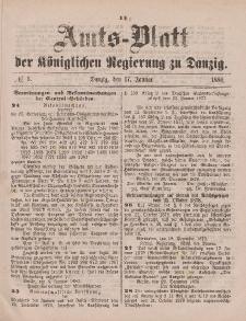 Amts-Blatt der Königlichen Regierung zu Danzig, 17. Januar 1880, Nr. 3