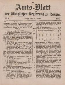 Amts-Blatt der Königlichen Regierung zu Danzig, 24. Januar 1880, Nr. 4