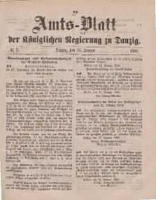 Amts-Blatt der Königlichen Regierung zu Danzig, 31. Januar 1880, Nr. 5
