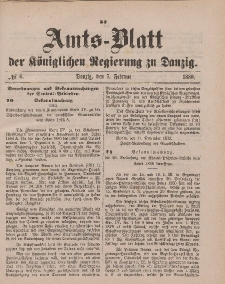 Amts-Blatt der Königlichen Regierung zu Danzig, 7. Februar 1880, Nr. 6