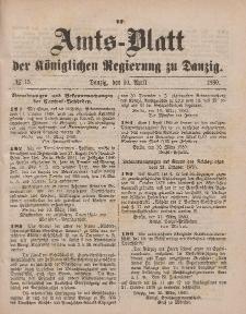 Amts-Blatt der Königlichen Regierung zu Danzig, 10. April 1880, Nr. 15