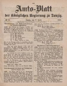 Amts-Blatt der Königlichen Regierung zu Danzig, 17. April 1880, Nr. 16