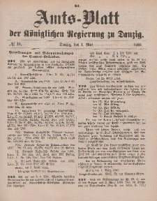 Amts-Blatt der Königlichen Regierung zu Danzig, 1. Mai 1880, Nr. 18