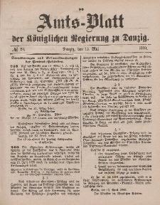 Amts-Blatt der Königlichen Regierung zu Danzig, 15. Mai 1880, Nr. 20
