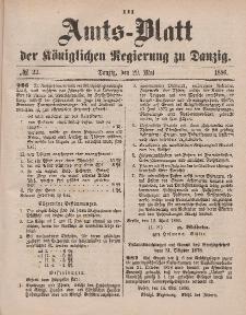Amts-Blatt der Königlichen Regierung zu Danzig, 29. Mai 1880, Nr. 22