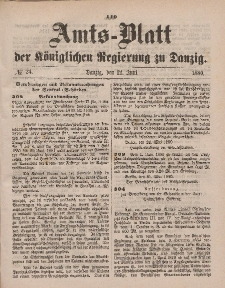 Amts-Blatt der Königlichen Regierung zu Danzig, 12. Juni 1880, Nr. 24