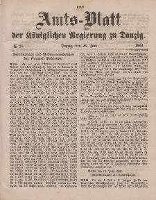 Amts-Blatt der Königlichen Regierung zu Danzig, 26. Juni 1880, Nr. 26