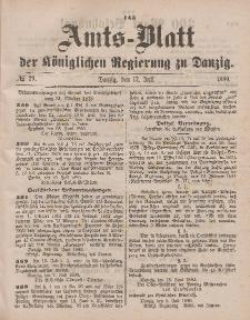 Amts-Blatt der Königlichen Regierung zu Danzig, 17. Juli 1880, Nr. 29