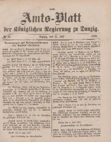 Amts-Blatt der Königlichen Regierung zu Danzig, 31. Juli 1880, Nr. 31