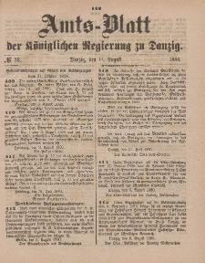 Amts-Blatt der Königlichen Regierung zu Danzig, 14. August 1880, Nr. 33