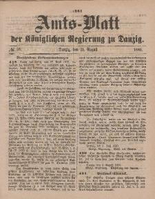 Amts-Blatt der Königlichen Regierung zu Danzig, 21. August 1880, Nr. 34