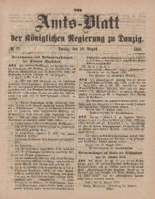 Amts-Blatt der Königlichen Regierung zu Danzig, 28. August 1880, Nr. 35