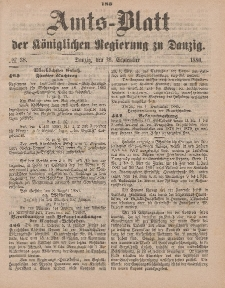 Amts-Blatt der Königlichen Regierung zu Danzig, 18. September 1880, Nr. 38