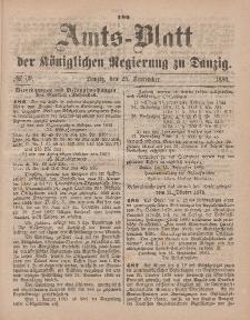 Amts-Blatt der Königlichen Regierung zu Danzig, 25. September 1880, Nr. 39