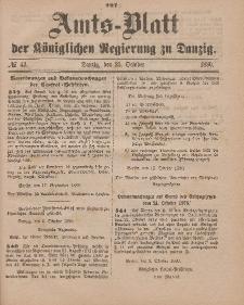 Amts-Blatt der Königlichen Regierung zu Danzig, 23. Oktober 1880, Nr. 43