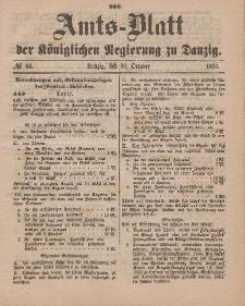 Amts-Blatt der Königlichen Regierung zu Danzig, 30. Oktober 1880, Nr. 44