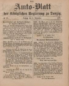 Amts-Blatt der Königlichen Regierung zu Danzig, 6. November 1880, Nr. 45