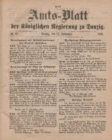 Amts-Blatt der Königlichen Regierung zu Danzig, 13. November 1880, Nr. 46
