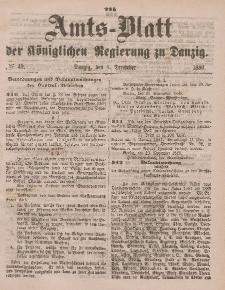 Amts-Blatt der Königlichen Regierung zu Danzig, 4. Dezember 1880, Nr. 49