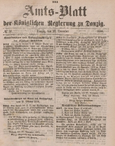 Amts-Blatt der Königlichen Regierung zu Danzig, 18. Dezember 1880, Nr. 51