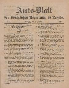 Amts-Blatt der Königlichen Regierung zu Danzig, 9. Januar 1886, Nr. 2