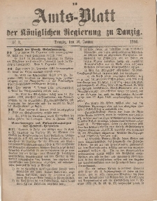 Amts-Blatt der Königlichen Regierung zu Danzig, 16. Januar 1886, Nr. 3