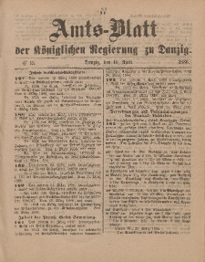 Amts-Blatt der Königlichen Regierung zu Danzig, 10. April 1886, Nr. 15
