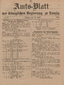 Amts-Blatt der Königlichen Regierung zu Danzig, 24. April 1886, Nr. 17