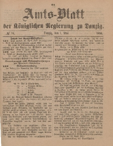 Amts-Blatt der Königlichen Regierung zu Danzig, 1. Mai 1886, Nr. 18