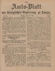 Amts-Blatt der Königlichen Regierung zu Danzig, 22. Mai 1886, Nr. 21
