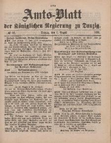Amts-Blatt der Königlichen Regierung zu Danzig, 7. August 1886, Nr. 32