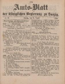 Amts-Blatt der Königlichen Regierung zu Danzig, 14. August 1886, Nr. 33