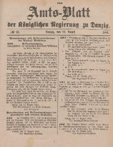 Amts-Blatt der Königlichen Regierung zu Danzig, 28. August 1886, Nr. 35