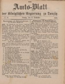 Amts-Blatt der Königlichen Regierung zu Danzig, 18. September 1886, Nr. 38