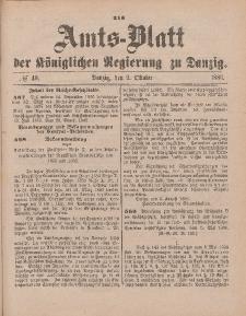 Amts-Blatt der Königlichen Regierung zu Danzig, 2. Oktober 1886, Nr. 40