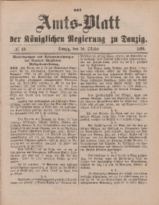 Amts-Blatt der Königlichen Regierung zu Danzig, 30. Oktober 1886, Nr. 44