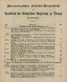 Chronologisches Inhaltsverzeichnis zum Amtsblatt der Königlichen Regierung zu Danzig pro 1888